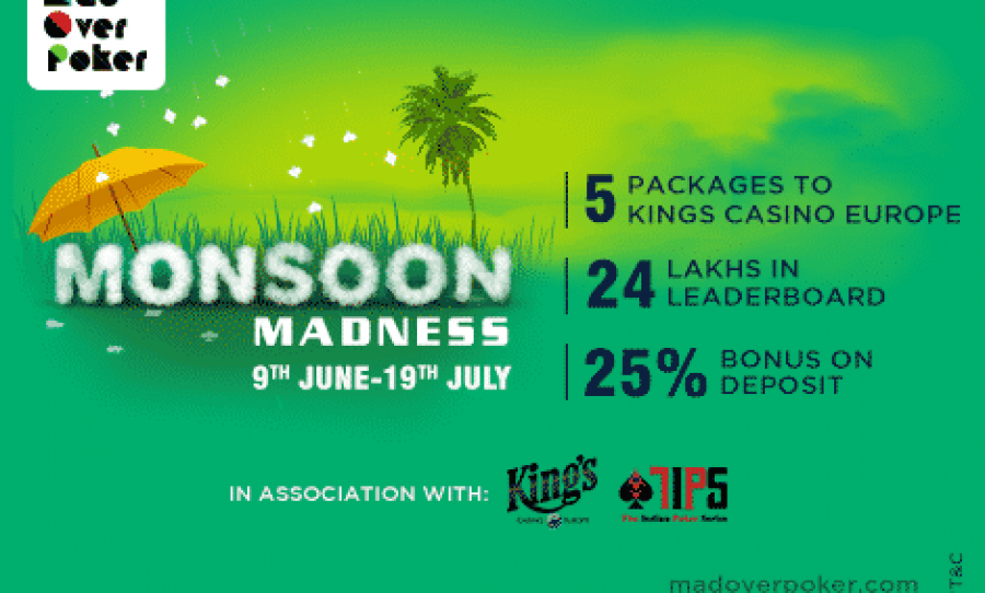 MadOverPoker Launches Monsoon Madness With Kings Casino Package Up For Grabs