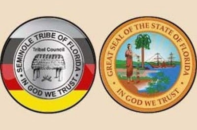 Emblems of the Seminole Tribe of Florida & the State of Florida