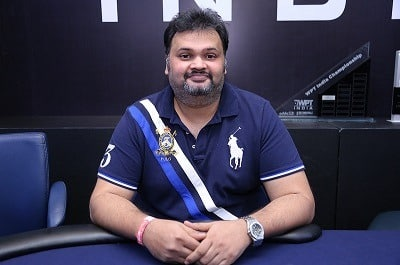 Winner of 2018 WPT India ₹55K Main Event - Nikunj Jhunjhunwala