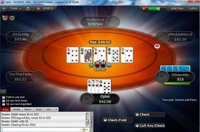 PokerStars Fusion Table Image