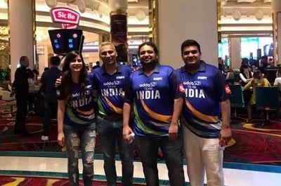Team India (From Left to Right): Captian Nikita Luther, Kunal Patni, Dhaval Mudgal & Amit Jain