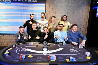 2018 888poker LIVE Festival London Final Table
