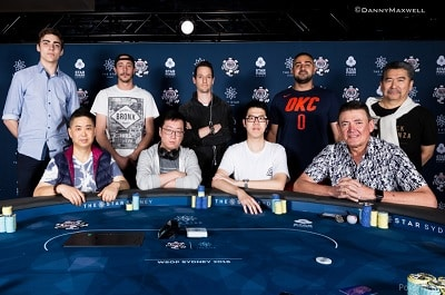 WSOPC The Star Sydney Opening Event Final Table