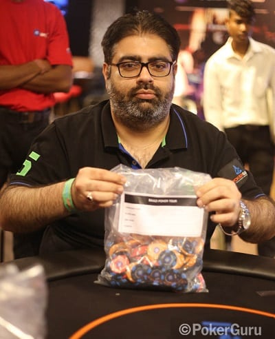 Ashish Ahuja bags the chip lead after Day 1 of the High Roller