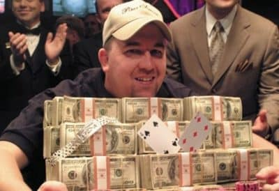 Chris Moneymaker Winning the 2003 WSOP Main Event