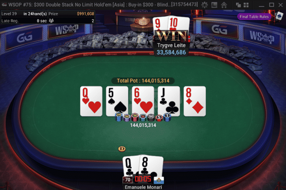 2020 WSOP Online Event 75 Cover Image - Final Hand