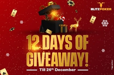 BLITZ Poker announces 12 Days of Giveaway