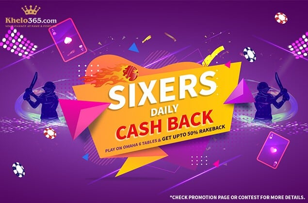 Khelo365 Sixers Daily Cash Back