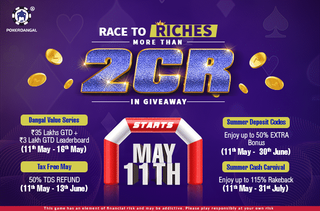 PokerDangal Announces a Power-Packed May With Its 'Race to Riches' Campaign