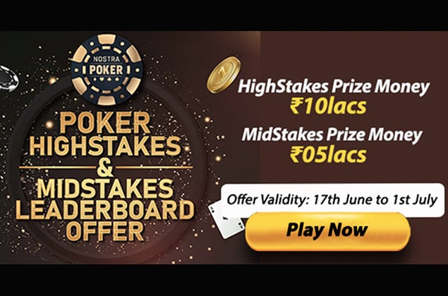 NostraPoker HighStakes and Midstakes Leaderboard Offer