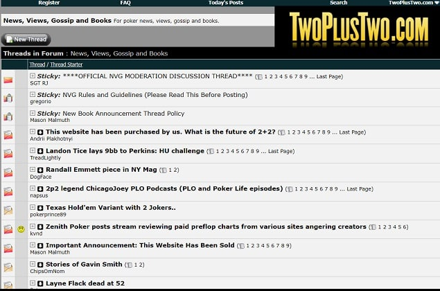Two Plus Two Forums Sold